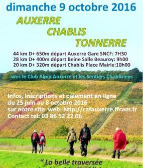 Randonnée Auxerre Chablis Tonnerre – 9 octobre 2016
