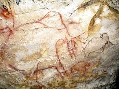 Mammouth, peinture rupestre aux grottes d'Arcy-sur-Cure - Maison ...